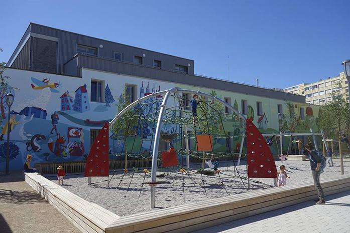 Fresque parc Zénith Lyon 3, n°2